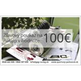 Zľavový darčekový poukaz v hodnote 100€