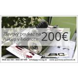 Zľavový darčekový poukaz v hodnote 200€