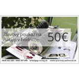 Zľavový darčekový poukaz v hodnote 50€
