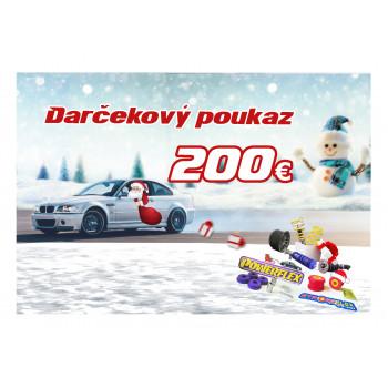 DARČEKOVÝ POUKAZ V HODNOTE 200 €